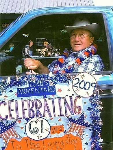 Louis Armentaro - Livingston, Montana's Annual Rodeo  Parade, His 61st Consecutive Year of Announcing..