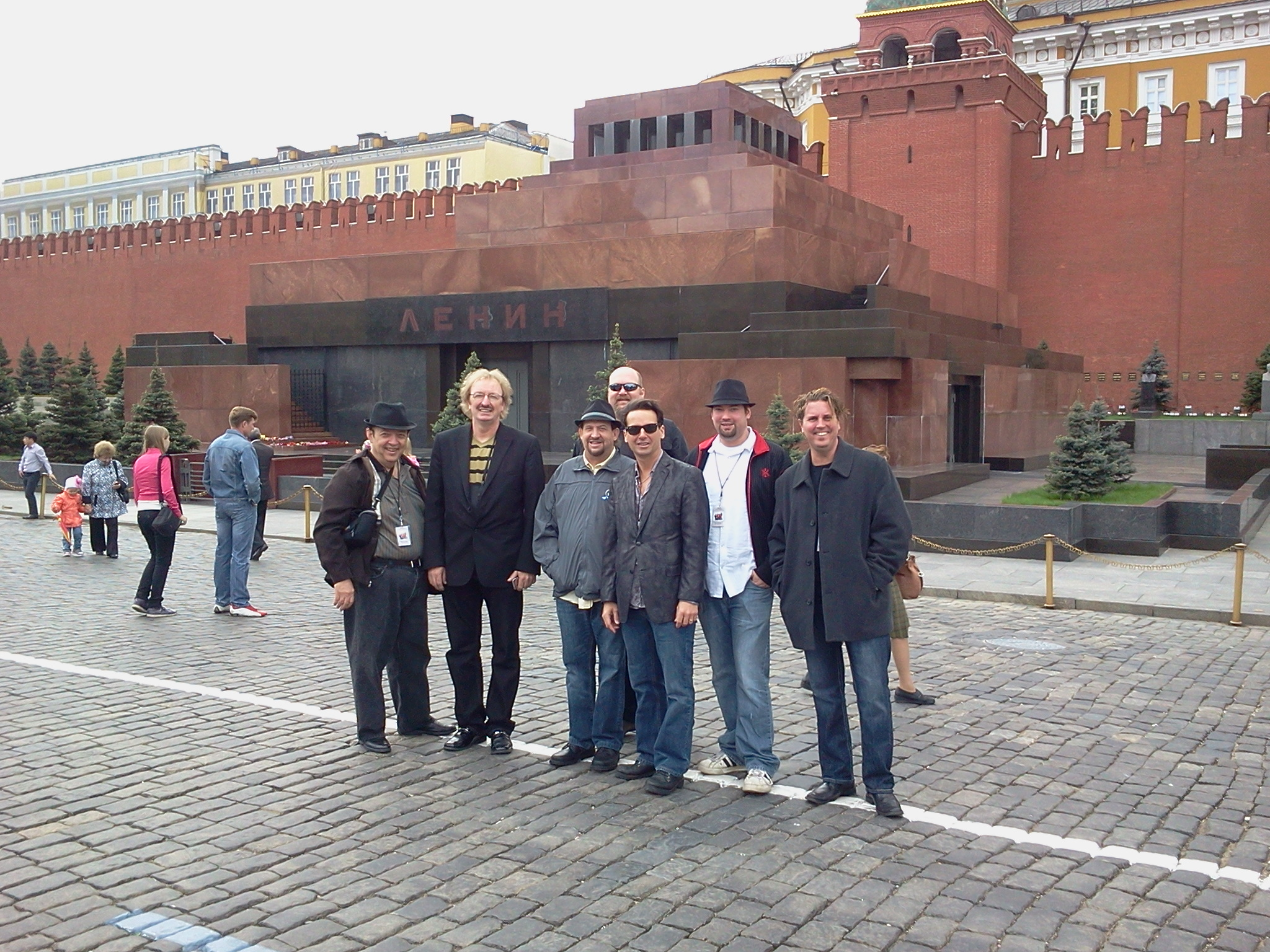 Rick K. & The Allnighters at Lenin's Tomb, Red Square, Moscow, Russia